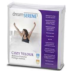 Dreamserene Cozy Velour Plush Waterproof Mattress Protector
