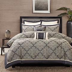 Madison Park Burton 8-pc. Jacquard Comforter Set