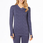 Cuddl Duds® Flex Fit Long-Sleeve V-Neck Shirt