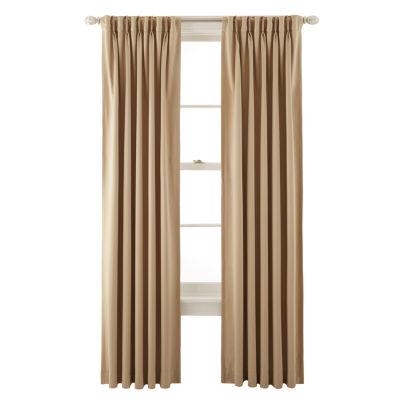 Liz Claiborne® Kathryn Room Darkening Pinch Pleat/Back Tab Curtain Panel