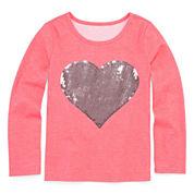 Total Girl® Long-Sleeve Sequin Tee - Preschool Girls 4-6x