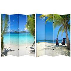Oriental Furniture 6' Beach Room Divider