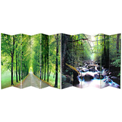 Oriental Furniture 6' Path Of Life Room Divider