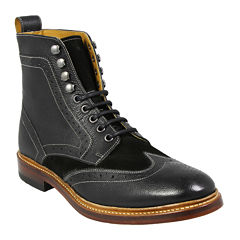 Stacy Adams® Madison II Mens Leather Wingtip Boots