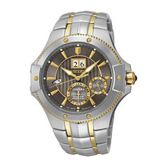seiko men s watches for jewelry watches jcpenney seiko® coutura mens two tone stainless steel kinetic watch snp108
