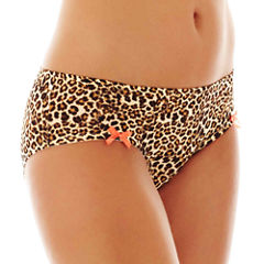 Flirtitude® Ruched Microfiber Hipster Panties