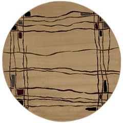 Nourison® Wavy Line Round Rug