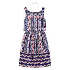 Emily West Sleeveless Peplum Dress - Girls' 7-16