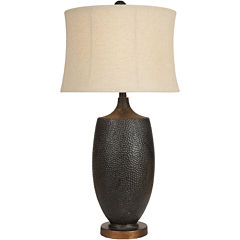 Surya® Bronze Hammered Table Lamp