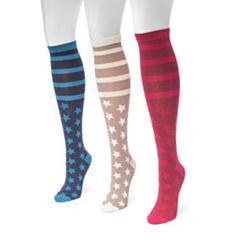 Muk Luks Jacquard Knee High Socks