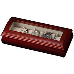 Cherry Glass Top Watch Box