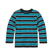Okie Dokie® Long-Sleeve Striped Tee - Toddler Boys 2T-5T