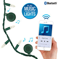 Bright Tunes Indoor/Outdoor Warm White LED String Lights with Bluetooth Speakers