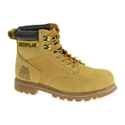 CAT® Second Shift Mens Leather Steel-Toe Work Boots