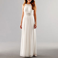 One by Eight Sleeveless Beaded Formal Gown