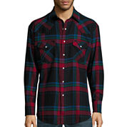 Ely Cattleman® Long-Sleeve Flannel Snap-Front Western Shirt