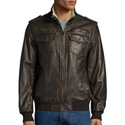 Levi's® Faux-Leather Trucker Bomber Jacket