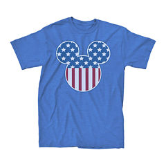 Short-Sleeve Mickey Mouse Flag Fill Tee