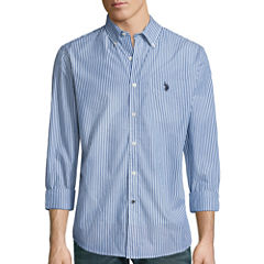 U.S. Polo Assn.® Long-Sleeve Patterned Poplin Sport Shirt