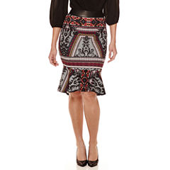 Bisou Bisou® Flounce Pencil Skirt