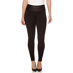 Bisou Bisou® Lace-Up Leggings