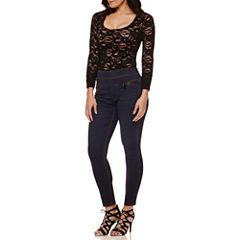 Bisou Bisou® Lace-Up Back Bodysuit or Stacked-Waist Skinny Jeans