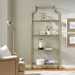 Aimee Glass Etagere Bookcase