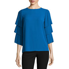 Worthington Tiered Pleat Sleeve