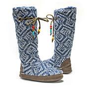 MUK LUKS® Grace Womens Sweater Knit Boot Slippers