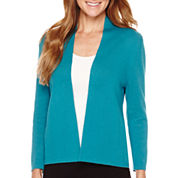 Liz Claiborne® Long-Sleeve Drape-Neck Cardigan