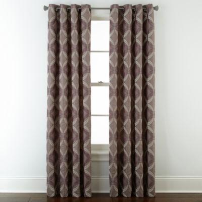 studio abbot chenille grommettop curtain panel