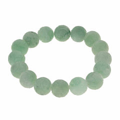 Genuine Jade Carved Dragon Stretch Bracelet