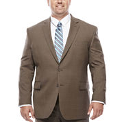 Stafford® Travel Stretch Brown Sharkskin - Big & Tall Jacket