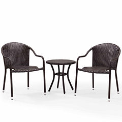Palm Harbor Wicker 3-pc. Bistro Set