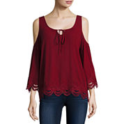 i jeans by Buffalo 3/4-Sleeve Cold-Shoulder Top