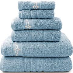 Pacific Coast Textiles™ Fleur Swirl 6-pc. Bath Towel Set