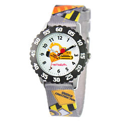 Red Balloon Construction Site Time Teacher Kids Stainless Steel Watch