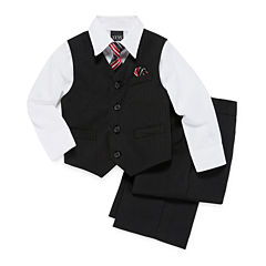 Striped Vest 4-pc.. Set - Toddler Boys 2t-5t