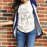 Arizona Cardigan, Floral Graphic Tee or Bootcut Jeans