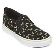 Vans® Asher Boys Skeleton Slip-On Skate Shoes - Big Kids