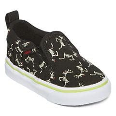 Vans® Asher Boys Skeleton Skate Shoes - Toddler