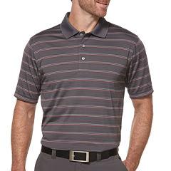 PGA TOUR® Short-Sleeve Airflux Striped Polo