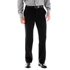 JF J. Ferrar® Stretch Gabardine Flat-Front Suit Pants - Super Slim