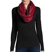 Striped Pleated Wrap Scarf