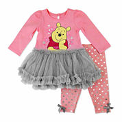 Disney Pooh Girls Legging Set NB-24M