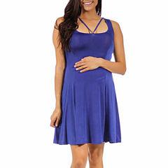 24/7 Comfort Apparel Sheath Dress-Plus Maternity