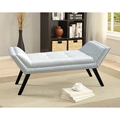 Baxton Studio Tamblin Faux-Leather Upholstered Bench