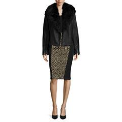 nicole by Nicole Miller® Burnout Top or Biker Fur Jacket or Solid Scuba Skirt