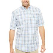 St. John's Bay® Short-Sleeve Poplin Sport Shirt