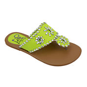 OMGirl Jenna Circle Whip-Stitch Girls Sandals - Little Kids